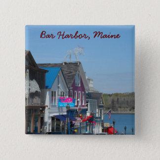 Bar-Hafen, Maine Quadratischer Button 5,1 Cm