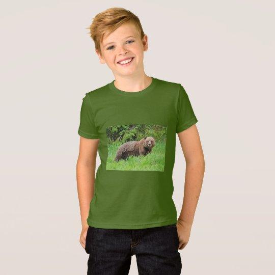 Bär im Gras-Geldstrafe-Jersey-T - Shirt