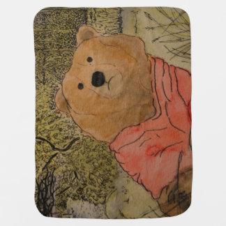 Bär in der Holz-Baby-Decke Puckdecke