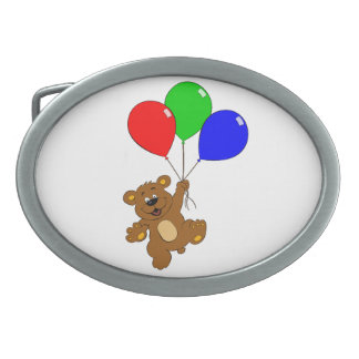Bär mit Ballonkindergürtelschnalle Ovale Gürtelschnallen