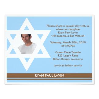 Bar Mitzvah 10,8 X 14 Cm Einladungskarte