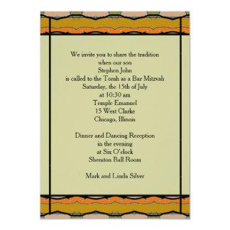 Bar Mitzvah 11,4 X 15,9 Cm Einladungskarte