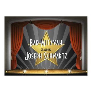 Bar Mitzvah Filmstar-Einladung 12,7 X 17,8 Cm Einladungskarte
