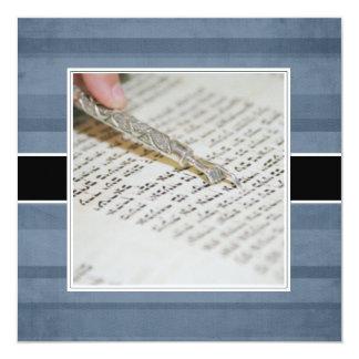 Bar Mitzvah Mitteilungen/Einladungen Quadratische 13,3 Cm Einladungskarte