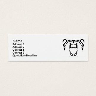 Bär, Name, Adresse 1, Adresse 2, Kontakt 1, Co… Mini Visitenkarte
