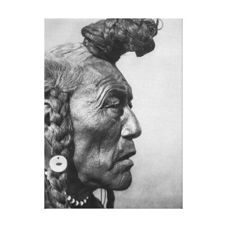 Bär Stier eine Blackfoot Krieger-Leinwand-Kunst Leinwanddruck
