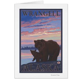 Bär und CUB - Wrangell, Alaska Karte