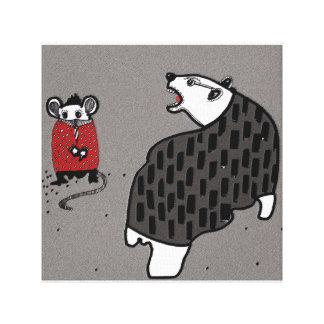 Bär und Maus Leinwanddruck