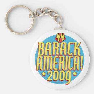 Barack Amerika 2009 politischer Superheld-Gang Standard Runder Schlüsselanhänger