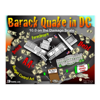 Barack Beben schaukelt DC Postkarte