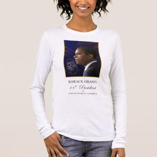 Barack Obama avec le Président Kennedy Shirt T-shirt À Manches Longues