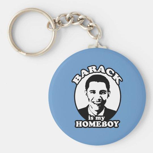 Barack Obama ist mein Homeboy Standard Runder Schlüsselanhänger
