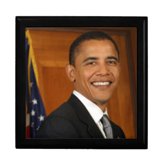 Barack Obama offizielles Porträt Große Quadratische Schatulle