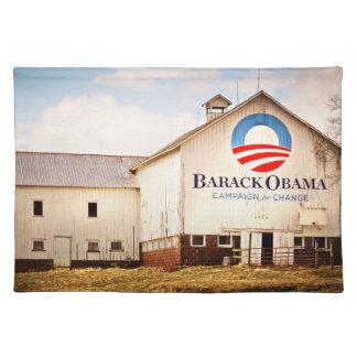 Barack Obama Präsidentenkampagnen-Scheune Tischset