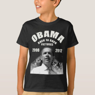 Barack Obama Rücken an Rückensieg-Einzelteile T-Shirt