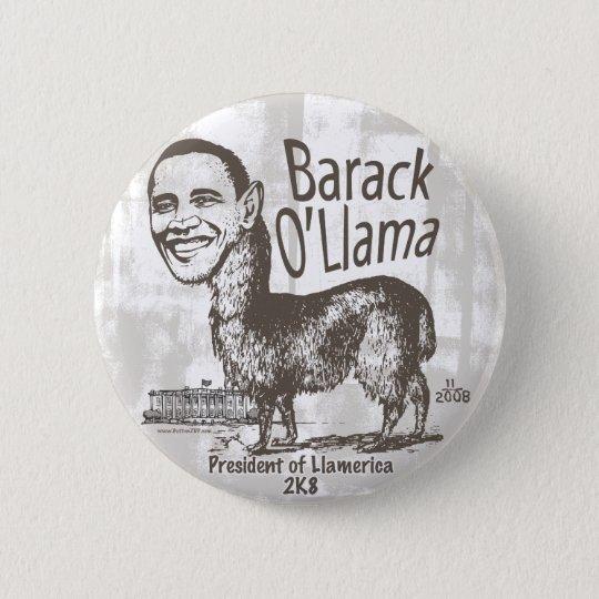 Barack O'Llama 2008 Runder Button 5,7 Cm