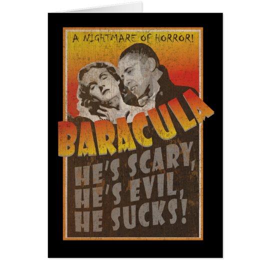 Baracula - glückliches Halloween Barack Obama Grußkarte