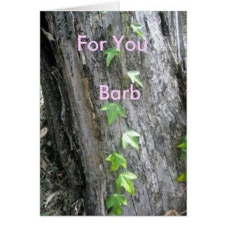 Barb Grußkarte