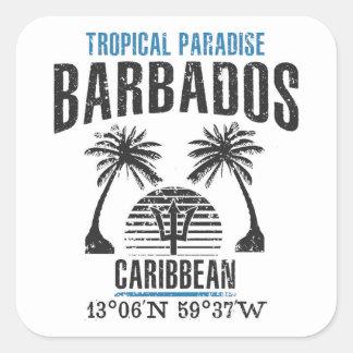Barbados Quadratischer Aufkleber