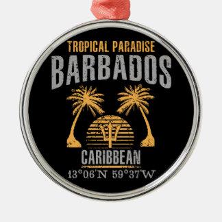 Barbados Silbernes Ornament