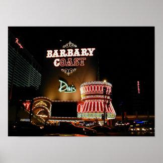 Barbary-Küsten-Las Vegas-Plakat Poster