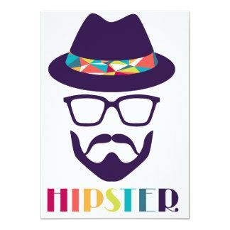 barbe fraîche d'amusement en verre de casquette de carton d'invitation  12,7 cm x 17,78 cm