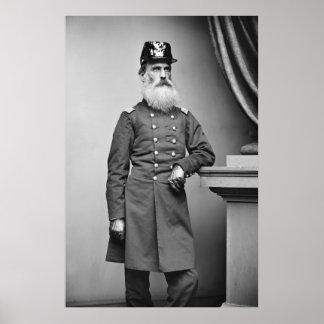 Barbe impressionnante de guerre civile, 1860s poster