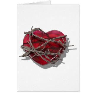 BarbedWireHeart081510 Grußkarte