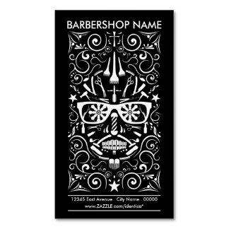 barbershop dia de Los Muertos Magnetische Visitenkarten