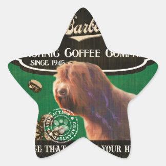 Barbet-Marke - Organic Coffee Company Stern Aufkleber