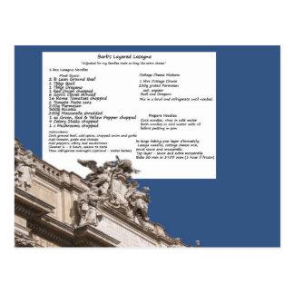 Barbs Lasagne-Rom-Postkarte Postkarte