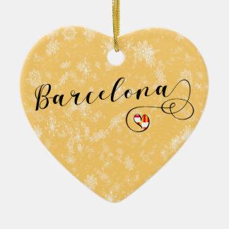 Barcelona-Herz, Weihnachtsbaum-Verzierung Keramik Ornament