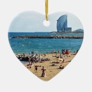 Barcelona Keramik Herz-Ornament