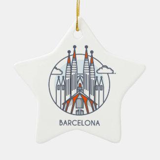 Barcelona Keramik Ornament