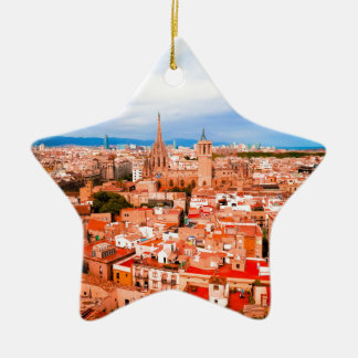 Barcelona Keramik Stern-Ornament