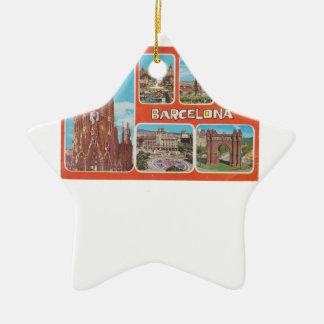 Barcelona-Rückblick Keramik Ornament