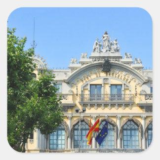 Barcelona, Spanien Quadratischer Aufkleber