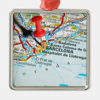Barcelona, Spanien Silbernes Ornament