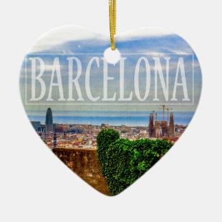 Barcelona-Stadt Keramik Ornament