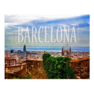 Barcelona-Stadt Postkarte