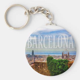 Barcelona-Stadt Schlüsselanhänger