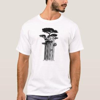 Barcode-Baumillustration T-Shirt