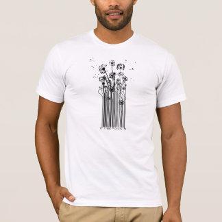 Barcode-Löwenzahn-Silhouette-T - Shirt