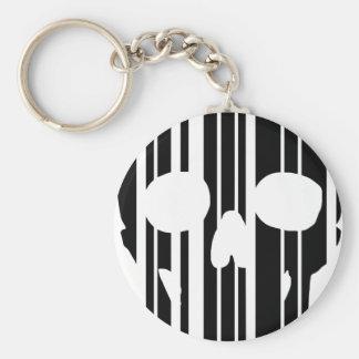 Barcode-Schädel Schlüsselanhänger