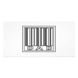Barcode-Vati Personalisierte Photo Karte