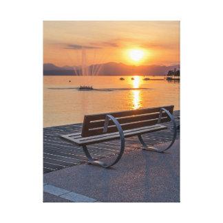 Bardolino, Sonnenuntergang auf See Garda Leinwanddruck