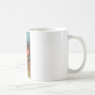 Bären mit Vögeln Kaffeetasse