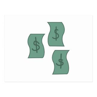 Bargeld-Dollar Postkarte