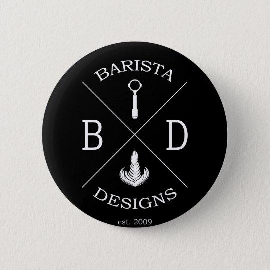 Barista Entwürfe Runder Button 5,1 Cm