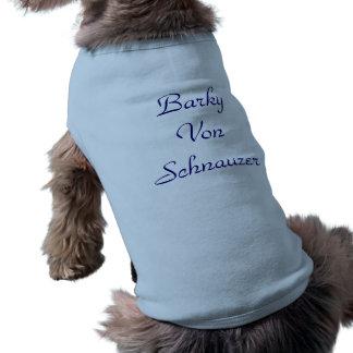 Barky Von Schnauzer Ärmelfreies Hunde-Shirt